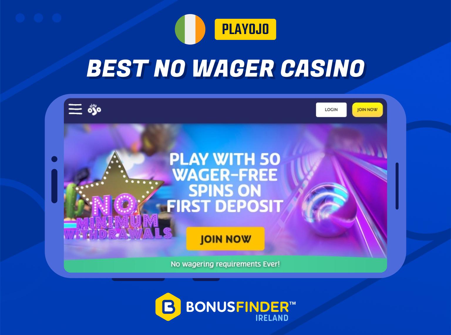 best no wager casino ireland