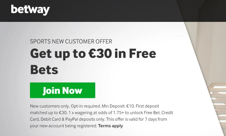 betway free bets offer