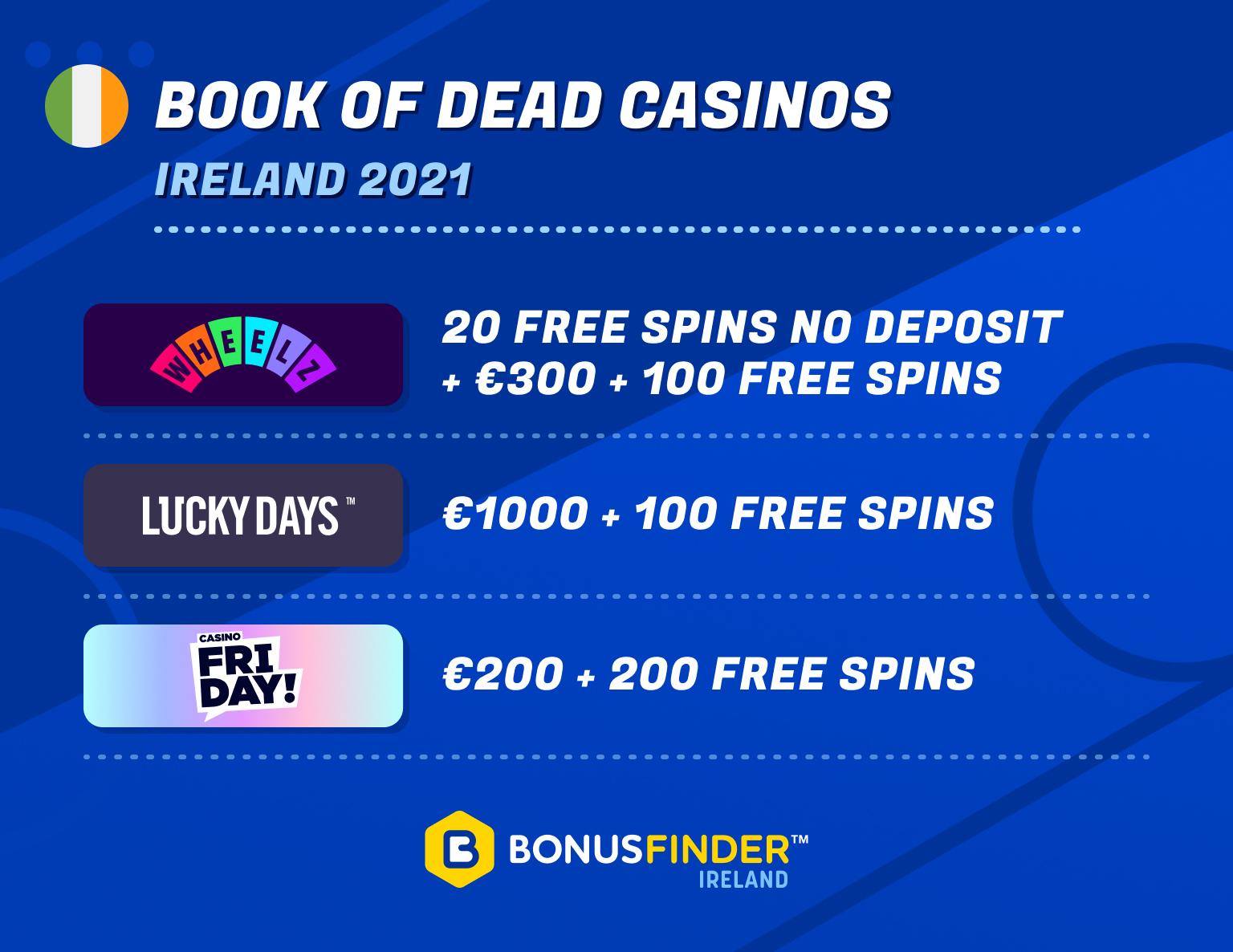 best book of dead casinos