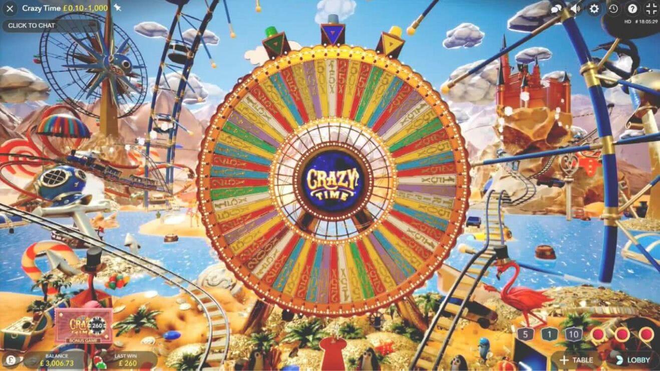 crazy time bonus round