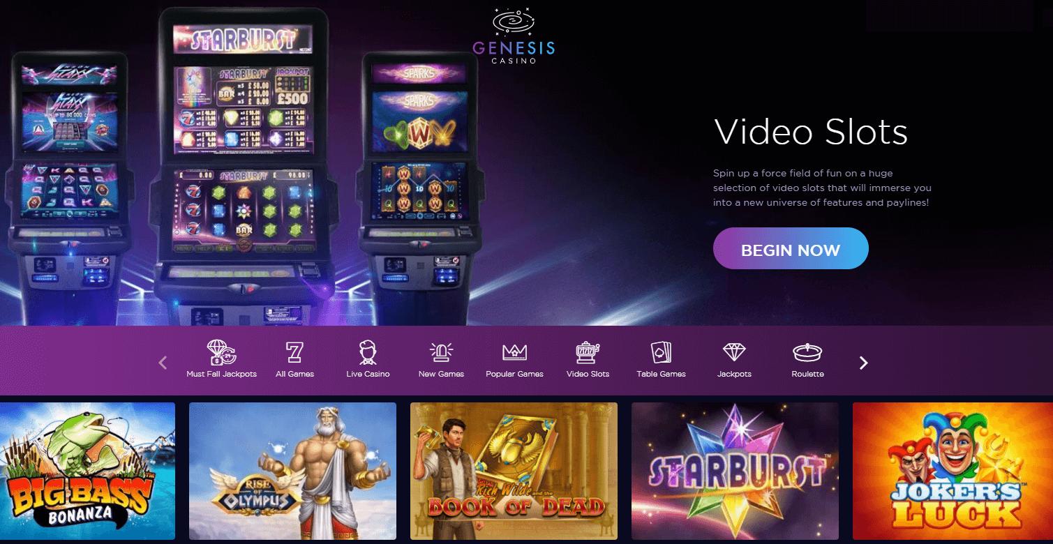 genesis slot machines