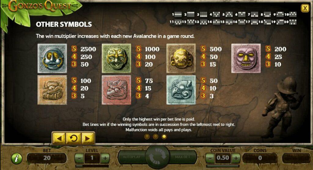 gonzos quest bonus features