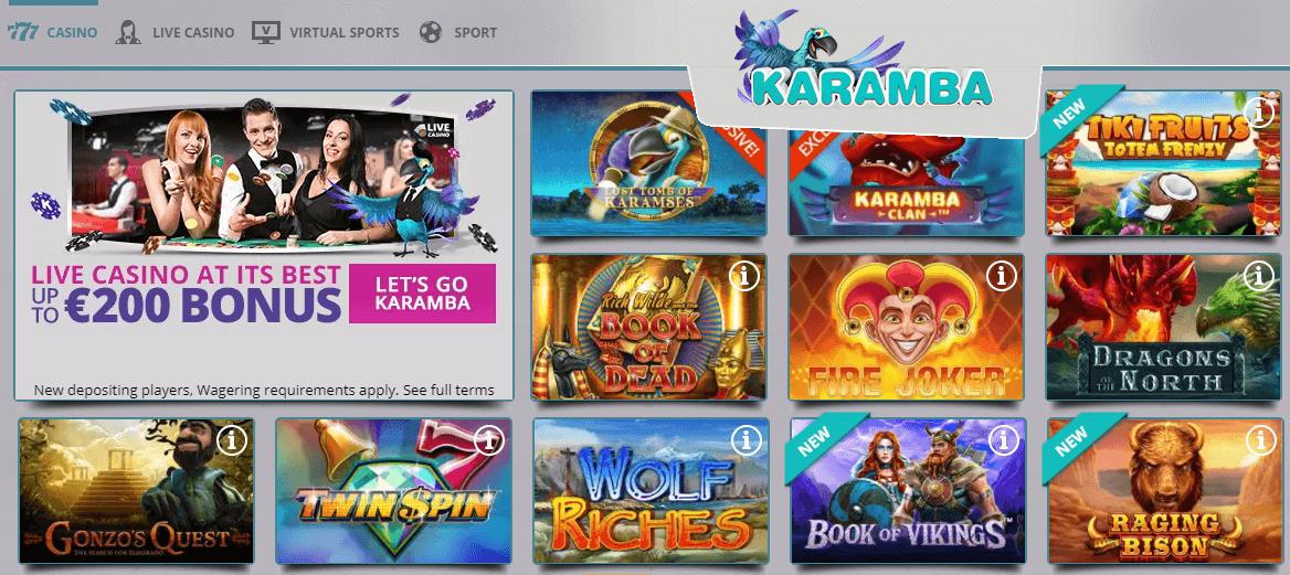 karamba slot machines