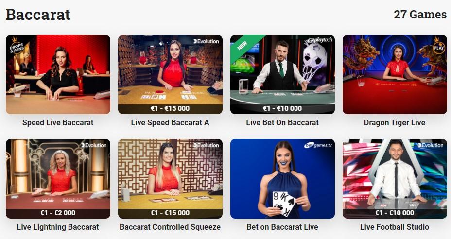 live baccarat casinos