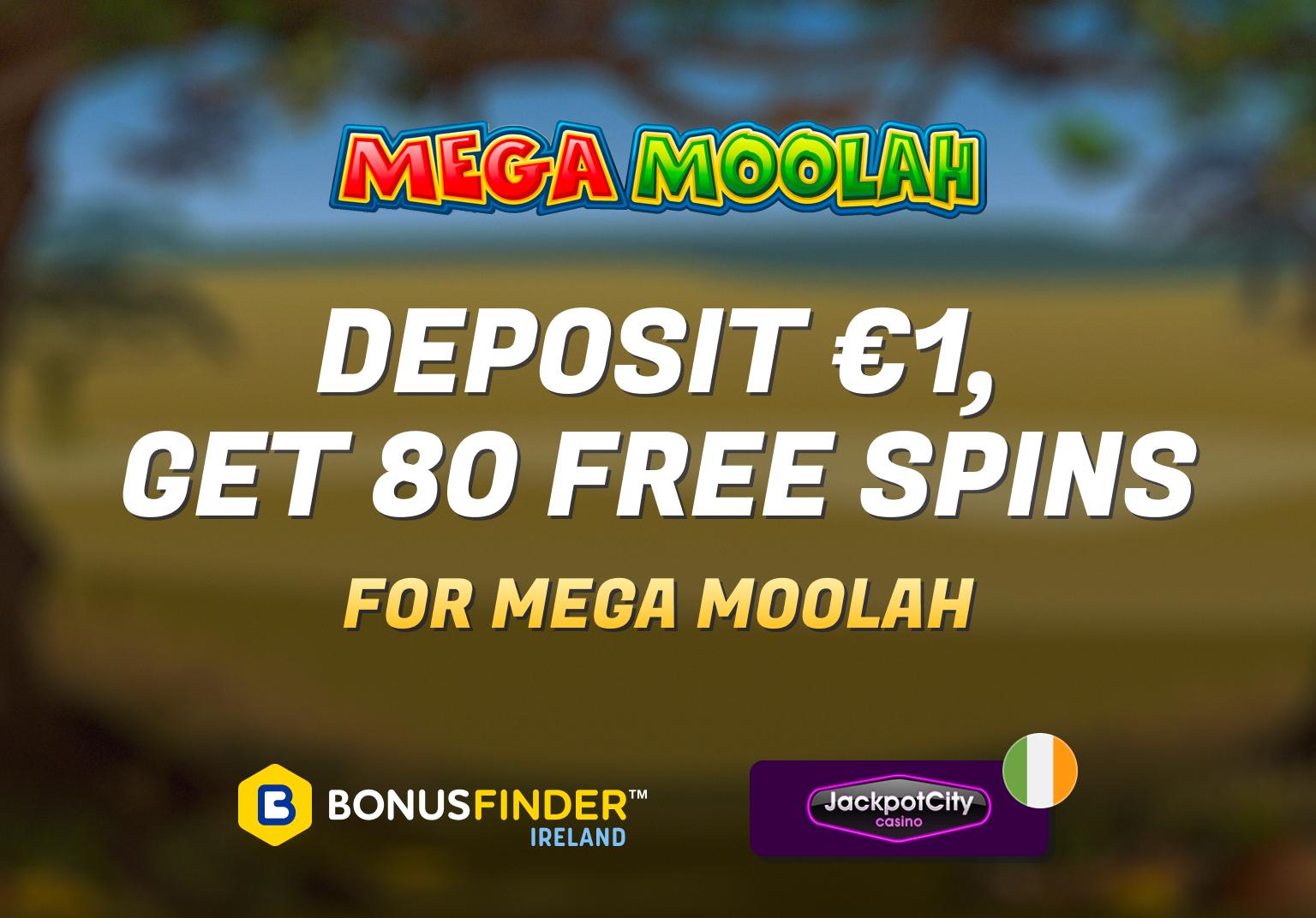 mega moolah 80 free spins bonus