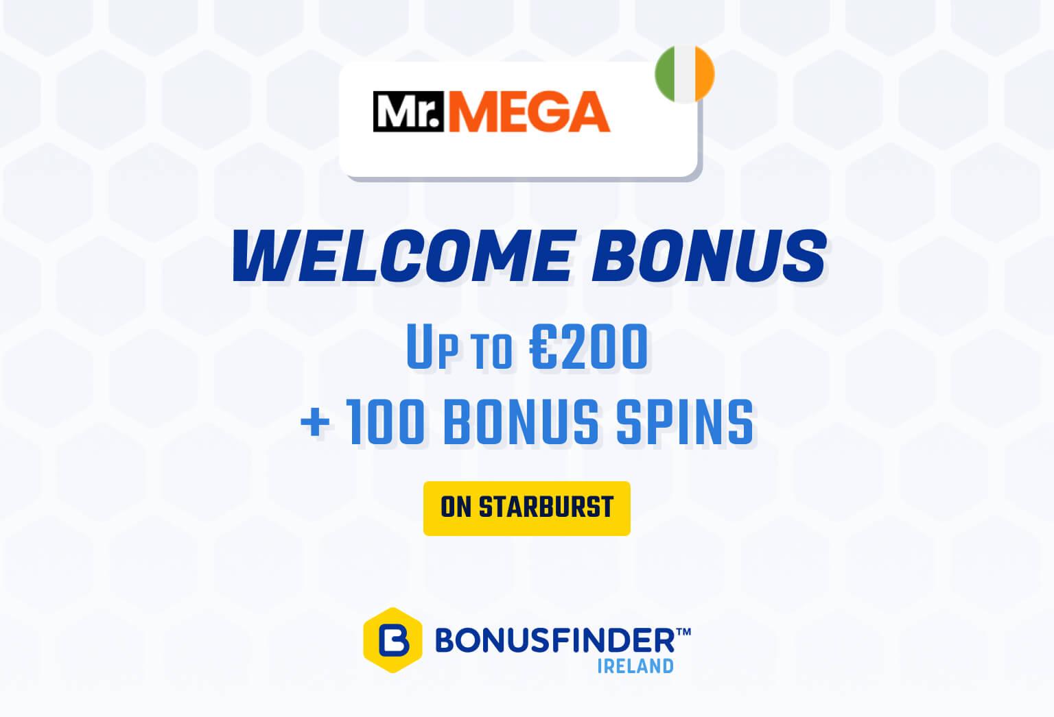 mrmega welcome bonus