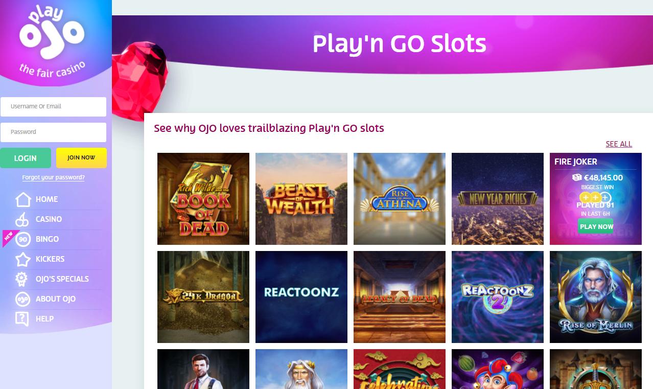 playngo slot games