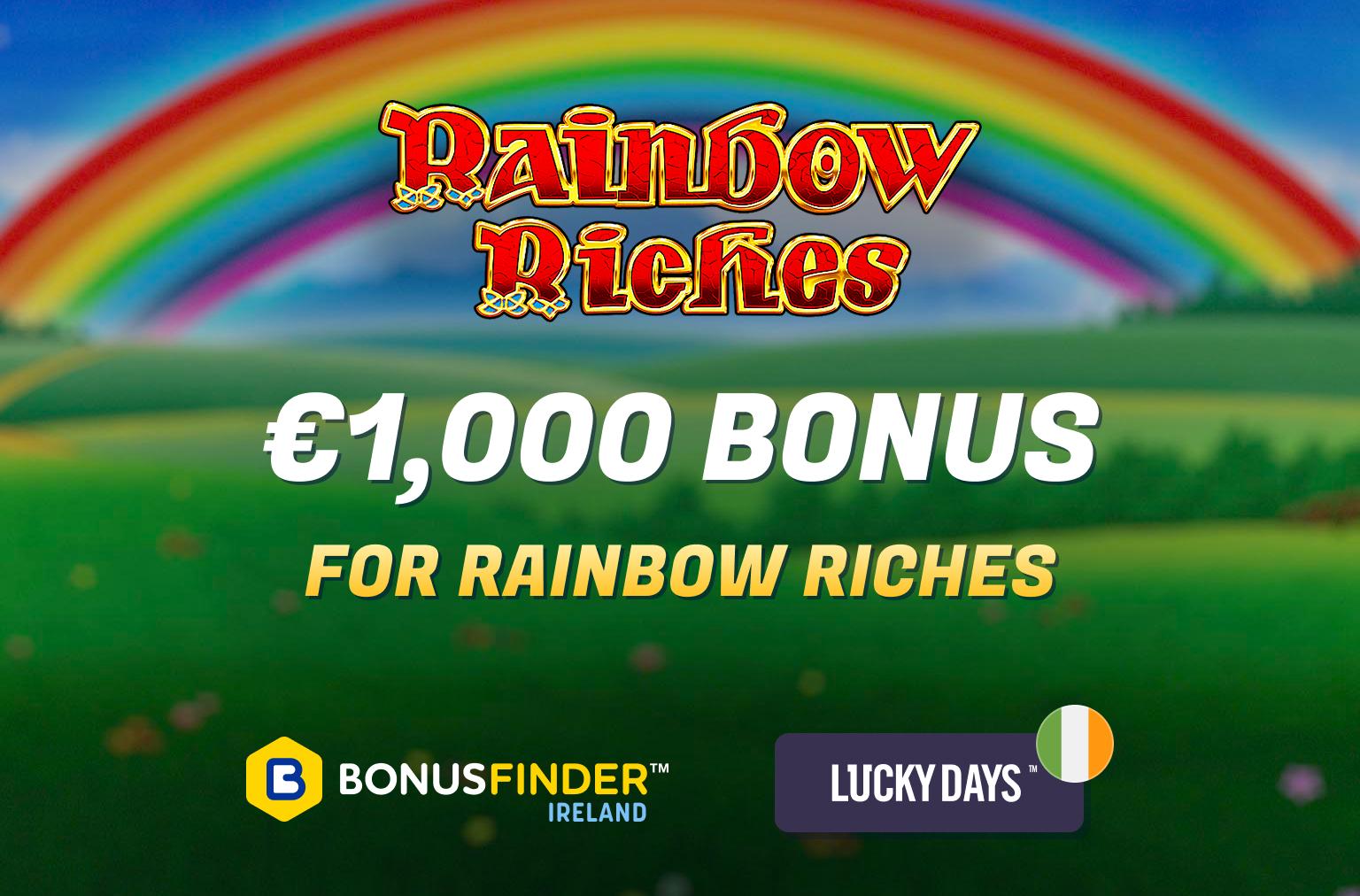 rainbow riches free spins bonus