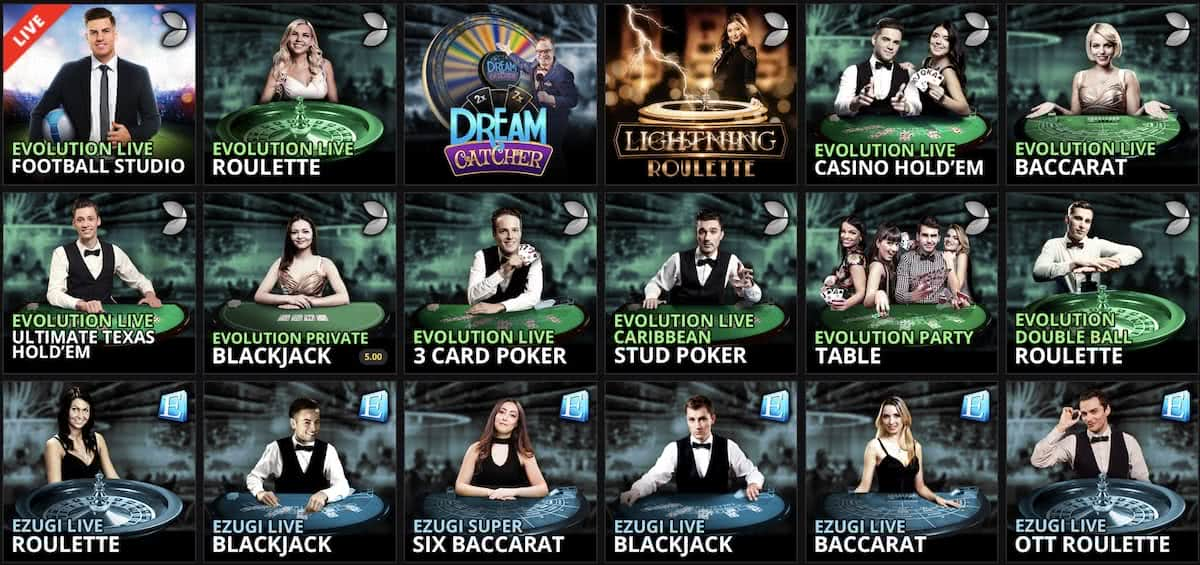 spin casino live