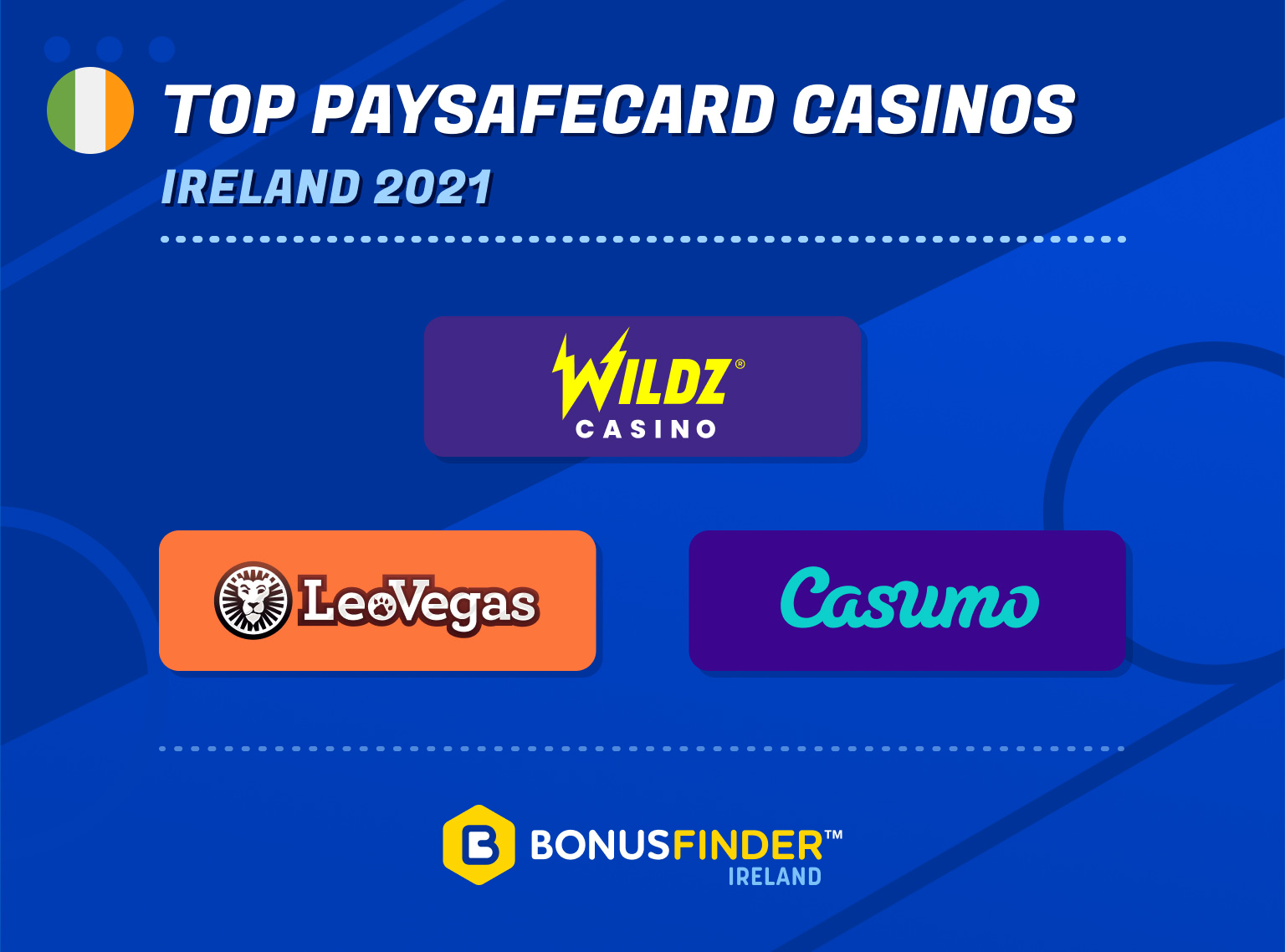top paysafecard casinos ireland