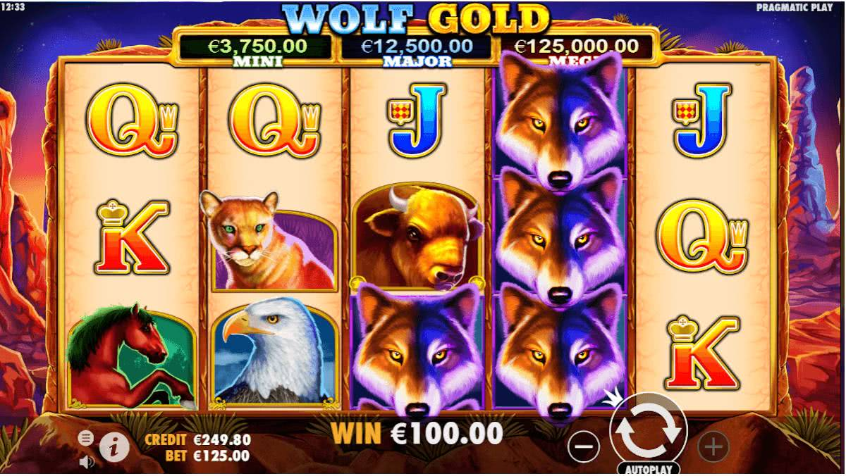 wolf gold slot game features